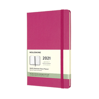 Moleskine: 2021 Diary Large Hard Cover 12 Month Weekly - Bougainvillea Pink