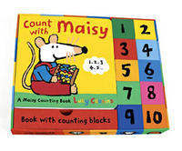 Count with Maisy Gift Set (Book + Blocks) by Lucy Cousins image
