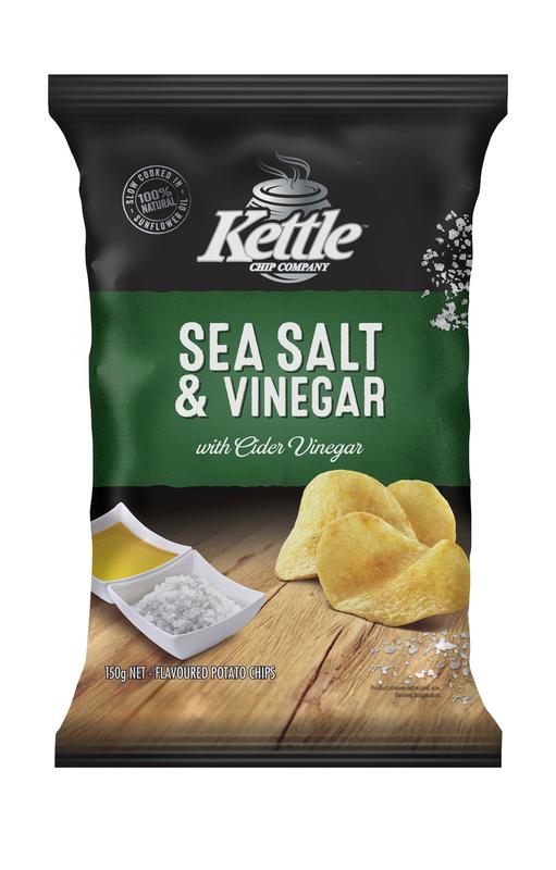 Kettle Chip Company Kettle Chips Sea Salt & Vinegar (12 x 150g)