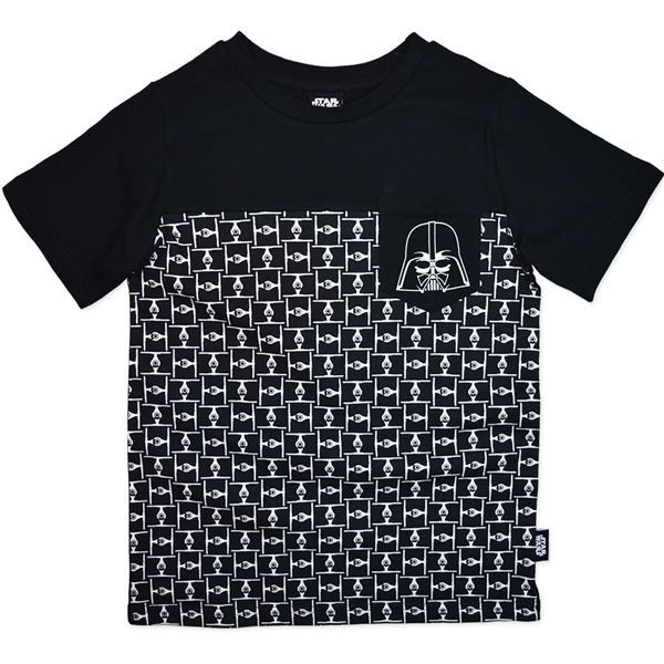 Star Wars Junior T-Shirt with Darth Vader Pocket - Size 8 image