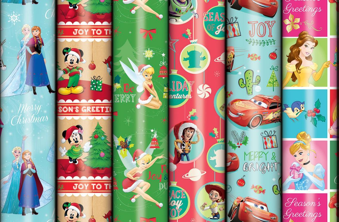 Disney Christmas Tall Roll Wrap - Assorted (3m) image