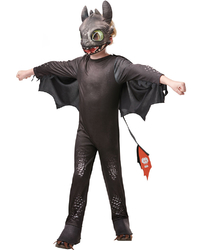How to Train Your Dragon 3: Toothless Nightfury - Deluxe Children's Costume (Small)
