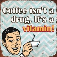 Embossed Plaque - Coffee Is A Vitamin
