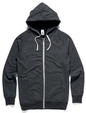 Youth Traction Zip Hood - Asphalt Marle (Size 8)