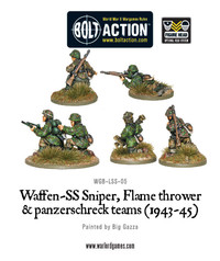 German Army - Waffen-SS Sniper, Flamethrower and Panzerschreck Teams image