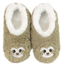 Slumbies Sloth Furry Foot Pals Slippers (M)