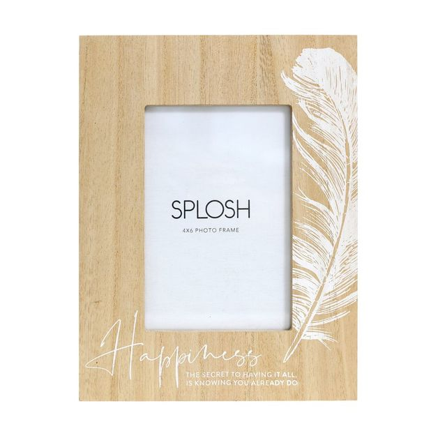 Splosh: Tranquil Wooden Happiness Frame