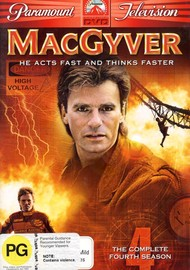 MacGyver - Complete Season 4 (5 Disc Box Set) on DVD image