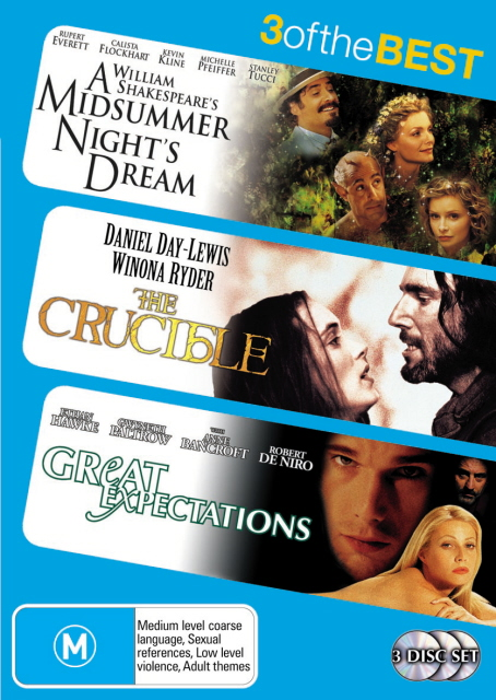 Midsummer Nights Dream, A (1999) / Crucible / Great Expectations (1998) (3 Disc Set) on DVD image