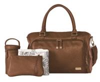 Isoki: Double Zip Satchel Bag - Redwood