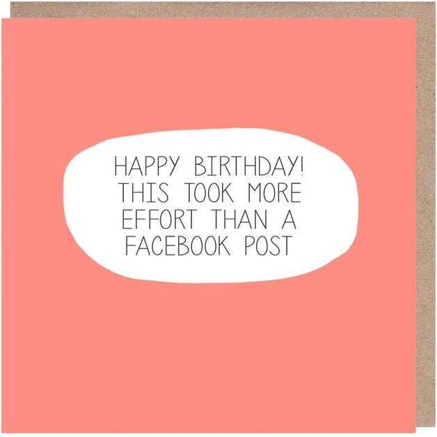 Colourblock: Facebook Birthday Card
