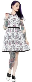 Sourpuss Creep Heart Lydia Dress (Medium)
