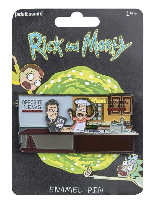 Rick and Morty: Sliding Enamel Pin - Michael & Pichael