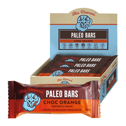 Blue Dinosaur Paleo Bars - Chocolate Orange (Box of 12)