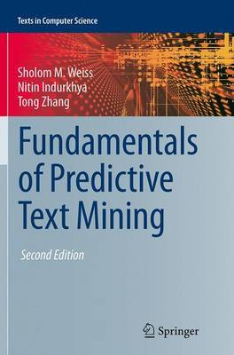Fundamentals of Predictive Text Mining by Sholom M. Weiss image
