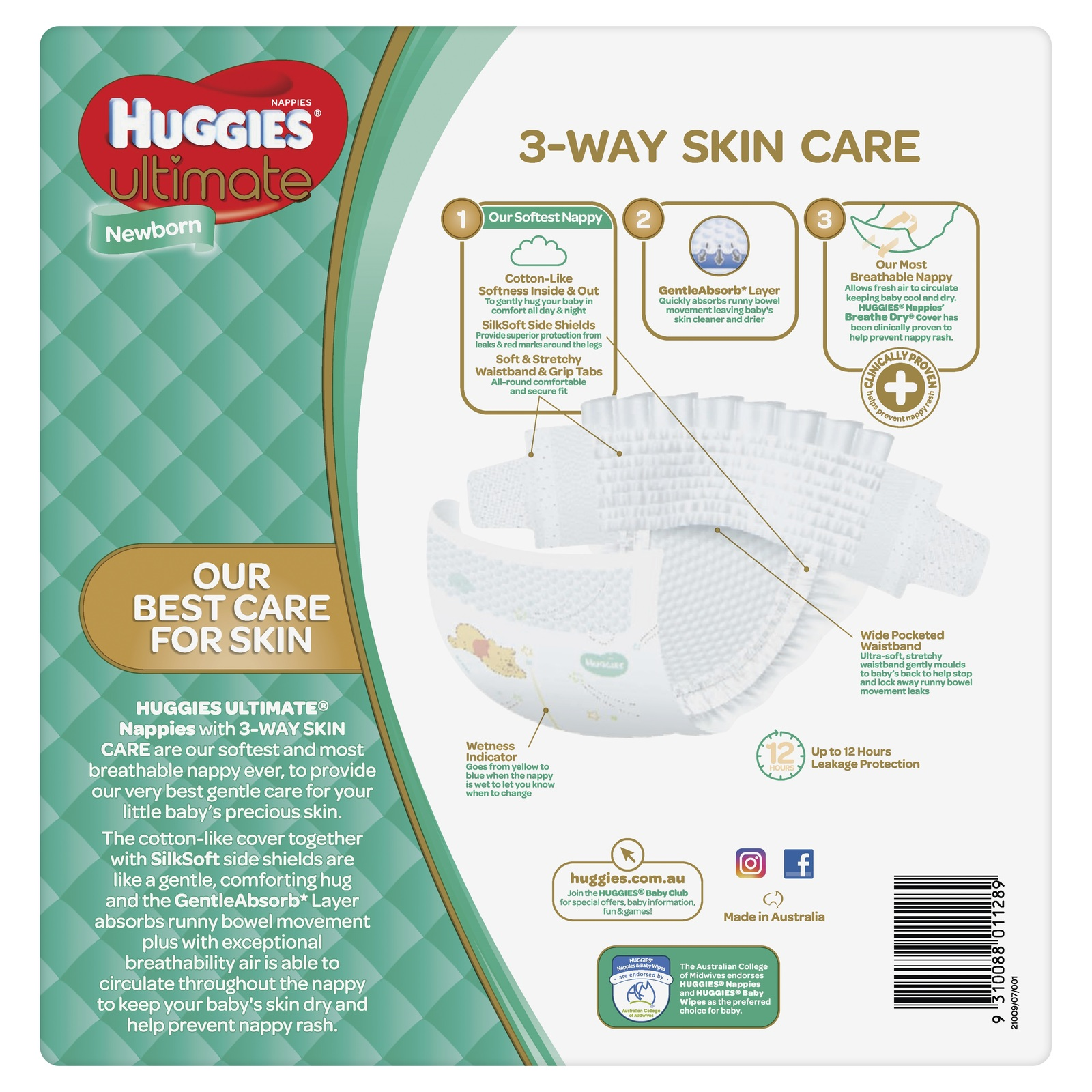 Huggies Ultimate Nappies: Jumbo Pack - Newborn Up to 5kg (108) image