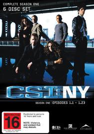 CSI - New York: Complete Season 1 on DVD image