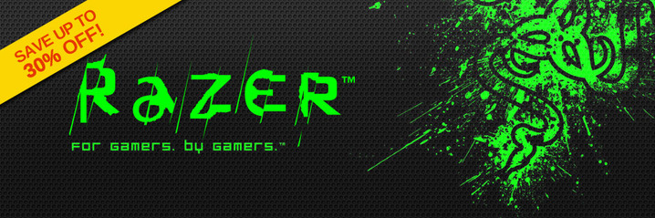 Razer gear up to 30% off