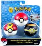 Pokémon: Throw n Catch Pokeball - 3-Pack