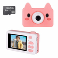 kids Digital Camera 1080P with 8GB SD Card - Pink Pig