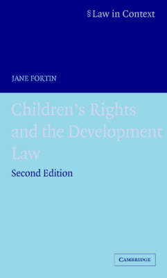 Children's Rights and the Developing Law by Jane Fortin image