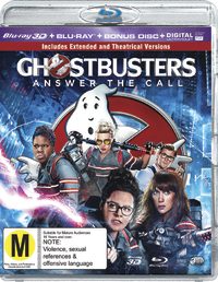 Ghostbusters (2016) on Blu-ray, 3D Blu-ray