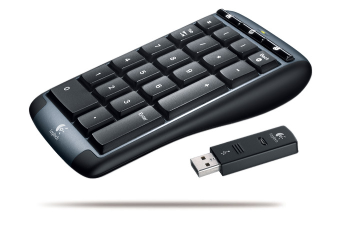 Logitech Cordless Number Pad for Notebooks image
