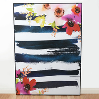 Framed Canvas - Floral Stripe (100 x 140cm)