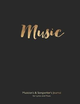Musician's and Songwriter's Journal for Lyrics & Music by Spicy Journals image