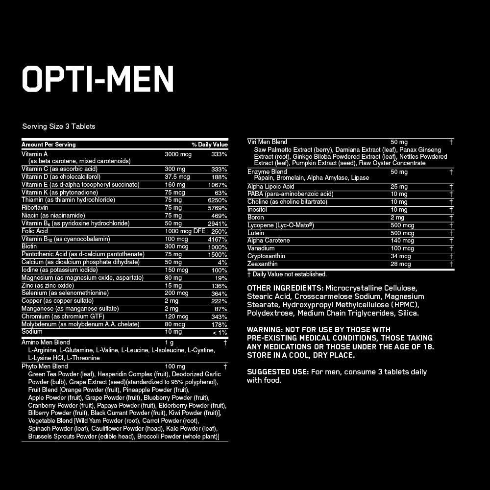 Optimum Nutrition Opti-Men Multivitamin (150 Tabs) image