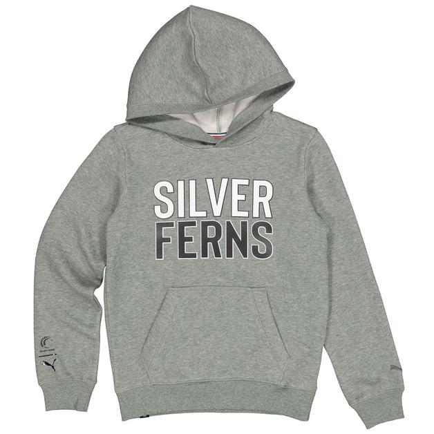 Silver Ferns Logo Youth Hoodie - Gray (10 Yr)