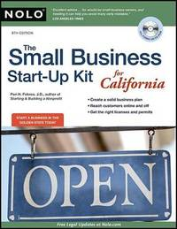 The Small Business Start-Up Kit for California by Peri Pakroo image