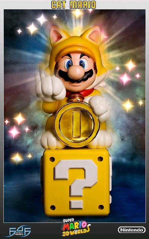 Super Mario - Cat Mario Statue