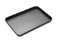 MasterClass: Non-Stick Loose Base Fluted Rectangular Flan/Quiche Pan (31x21cm)