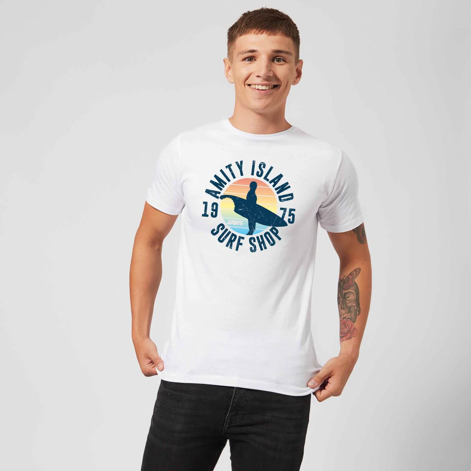 Jaws: Amity Surf Shop T-Shirt - White/Large image