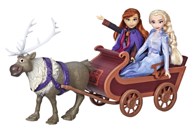 Frozen II: Sledding Sven & Sisters - Doll Playset