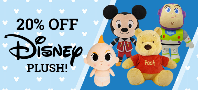 20% off select Disney Plush!