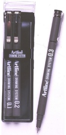 Artline Drawing System Pen 1-2-3 Black (3 Pack)