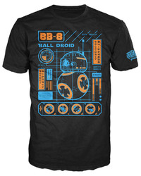 Star Wars - BB-8 Blueprint Pop! T-Shirt (S)