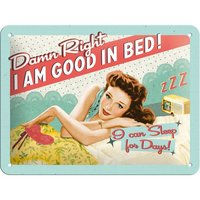 Say it 50's Retro Metal Sign - Good in Bed