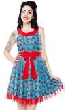 Sourpuss Cherry Cobbler Dance Dress (Medium)