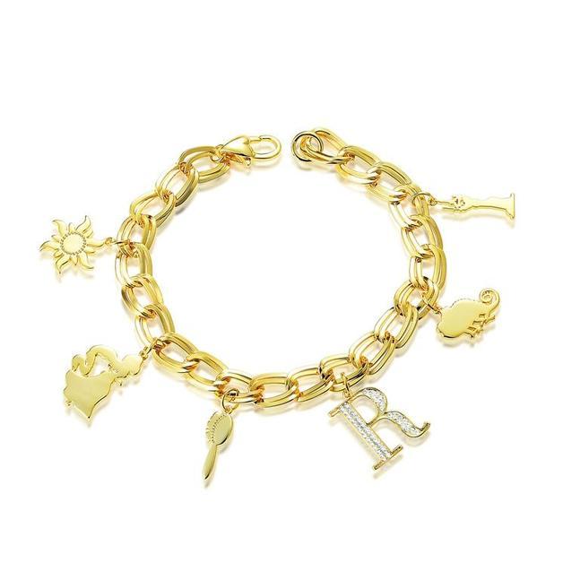 Disney Couture Princess Rapunzel Charm Bracelet - Gold