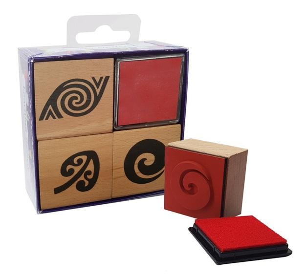 NZ Gift: Maori Stamp & Ink - Gift Set