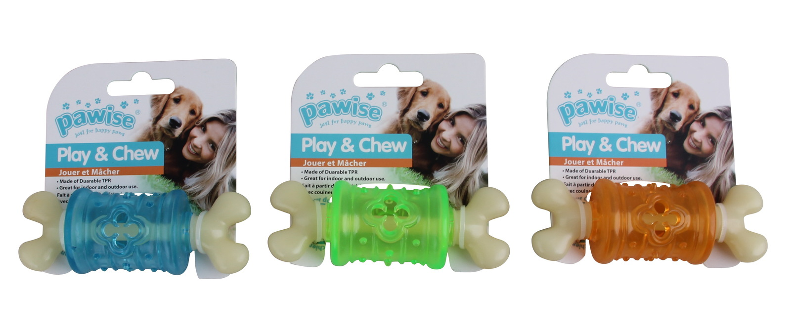 Pawise: Funny Chew Bone - Large (Round, Asst.) image