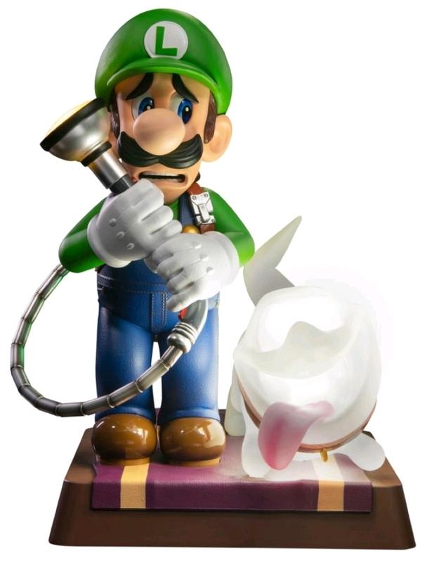 """Luigi's Mansion 3: Luigi & Polterpup - 9"""" Premium Statue"""