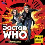 Doctor Who Comic Book 2018 Square Wall Calendar
