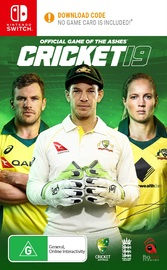 Cricket 19 (code in box) for Switch