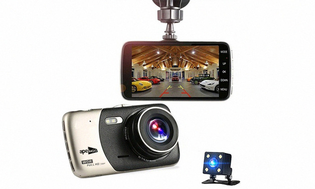 Ape Basics Dual Lens FHD 1080P Car Dash Camera