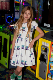 Jelly Alligator: Slime Invaders Dress - 12Y