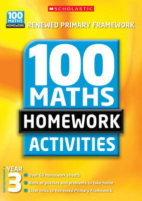 100 Maths Homework Activities for Year 3 by Ann Montague-Smith image